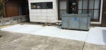 エクステリアの基本!土間コンクリート、駐車スペースのコンクリート工事の施工事例